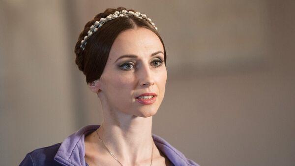 Балерина Большого театра Светлана Захарова на пресс-конференции в Москве