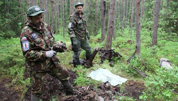 Поисковая группа РГО обнаружила остатки самолета Пе-2