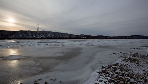 Река Амур зимой. Архивное фото