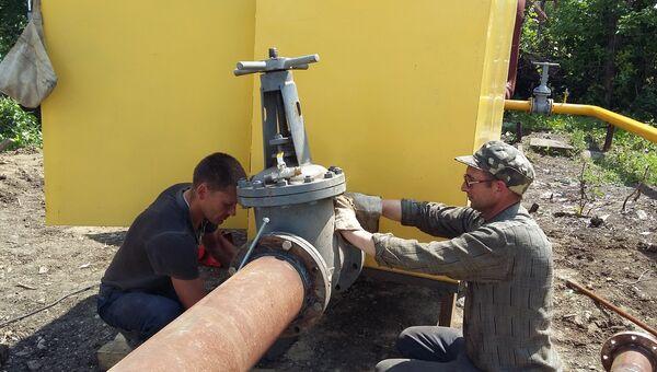 Строительство ветки газопровода. Архивное фото
