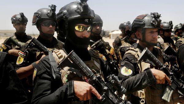Иракские элитные подразделения по борьбе с терроризмом в окрестностях города Эль-Фаллуджа. Архивное фото