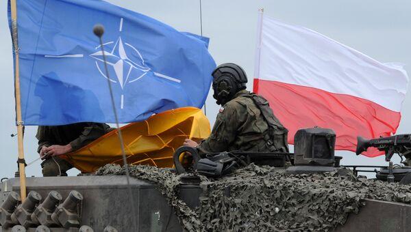 Польские военные во время совместных учений войск НАТО в Польше. Архивное фото