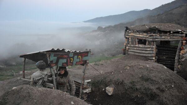 Карабахские военные армии обороны Нагорного Карабаха. Архивное фото