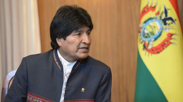 Президент Многонационального Государства Боливия Эво Моралес. Архивное фото
