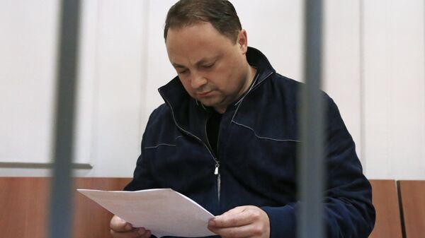 Рассмотрение ходатайства следствия об избрание меры пресечения мэру Владивостока И. Пушкареву в Басманном суде. Архивное фото