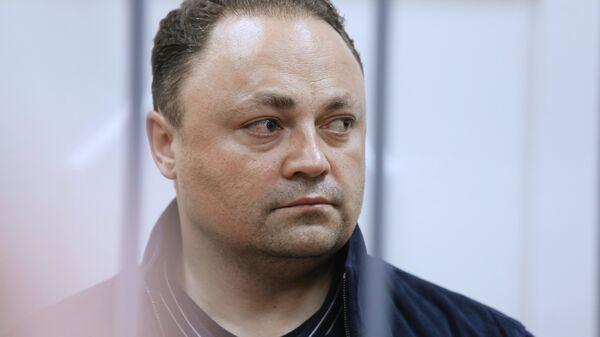 Мэр Владивостока Игорь Пушкарев в Басманном суде Москвы, где рассматривается ходатайство следствия об его аресте
