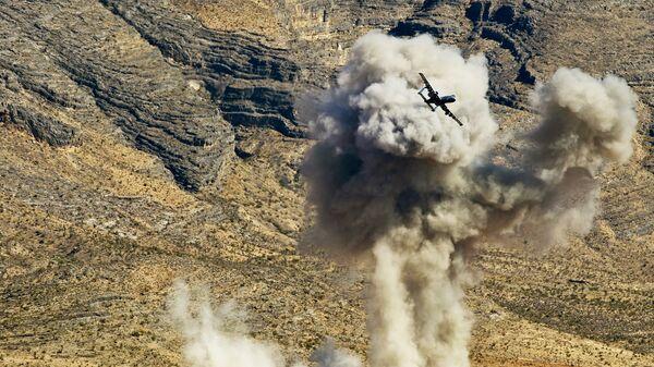 Самолет A-10 ВВС США во время учений в штате Невада