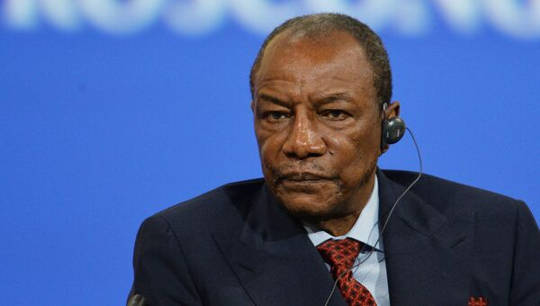 Президент Гвинейской Республики Альфа Конде. Архивное фото