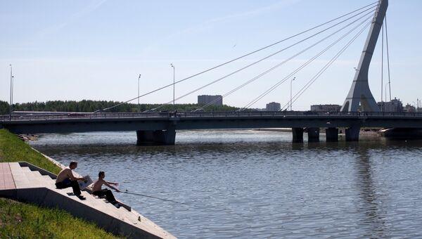 Мост через Дудергофский канал в Санкт-Петербурге. Архивное фото