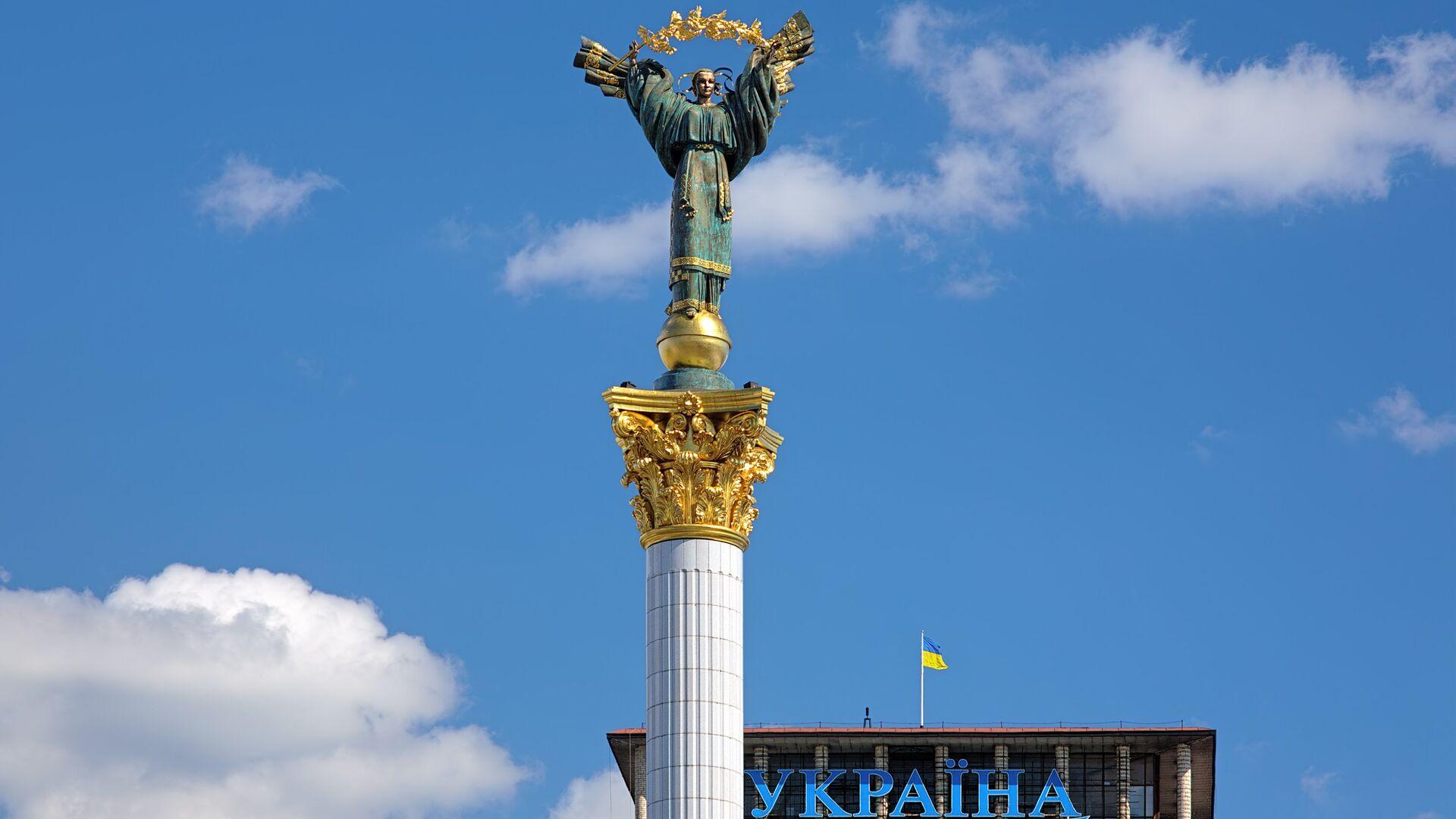 Монумент Независимости на Майдане Незалежности в Киеве, Украине - РИА Новости, 1920, 28.12.2020