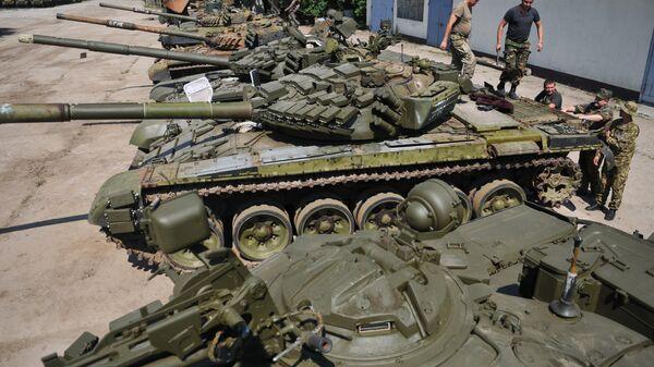Украинская бронетехника, подготовленная для ремонта