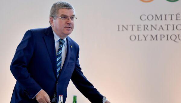 Президент Международного олимпийского комитета Томас Бах во время Олимпийского саммита в Лозанне