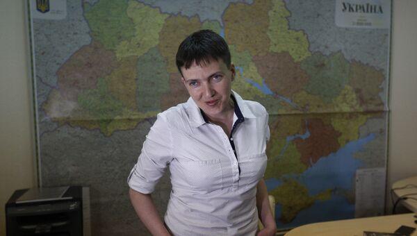 Народный депутат Украины Надежда Савченко. Архивное фото