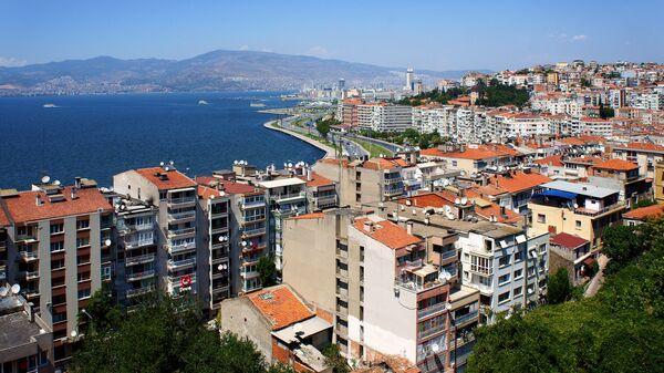 Вид на турецкий город Измир