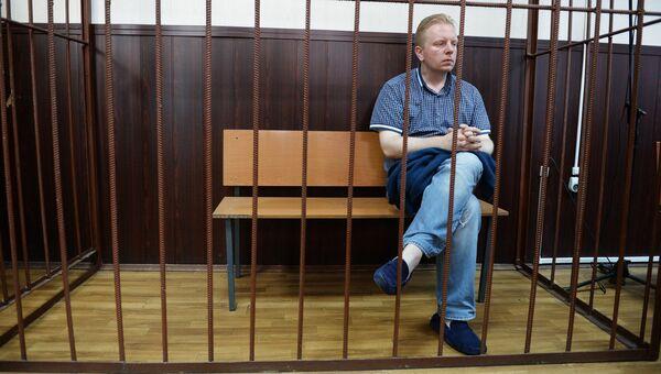 Генеральный директор Российского авторского общества (РАО) Сергей Федотов, подозреваемый в мошенничестве в особо крупном размере, в Таганском суде Москвы