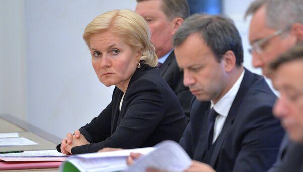Вице-премьер правительства РФ Ольга Голодец. Архивное фото