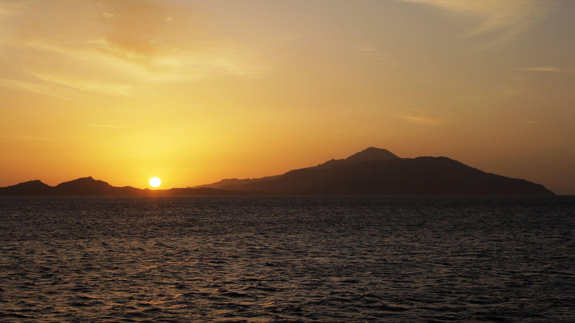 Восход солнца на острове Тиран в Красном море - РИА Новости, 1920, 05.03.2021