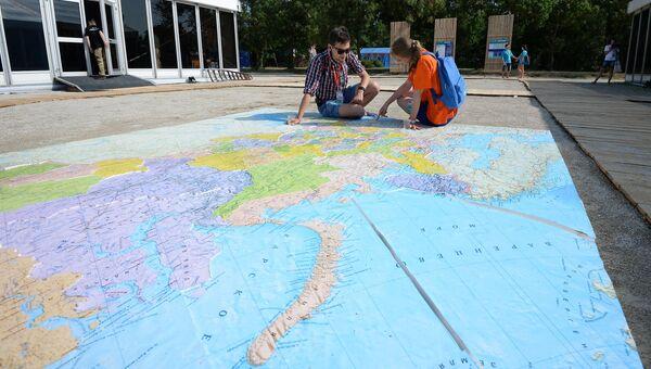 Участники Всероссийского молодежного образовательного форума. Архивное фото