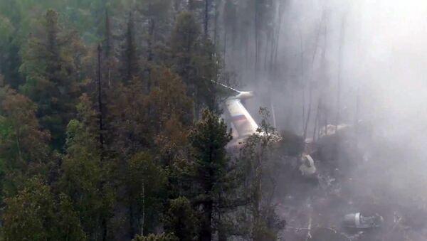 Место катастрофы самолета Ил-76 в Иркутской области