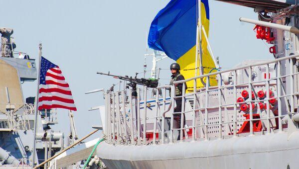 Флагман ВМС Украины сторожевой корабль проекта 1135 Гетман Сагайдачный. Архивное фото.
