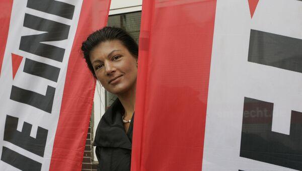 Сара Вагенкнехт — немецкий политик, доктор экономических наук, журналист, член Левой партии Германии. Архивное фото