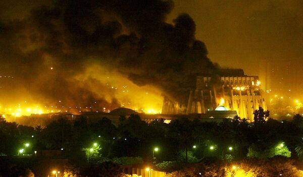 Последствия бомбардировки Багдада