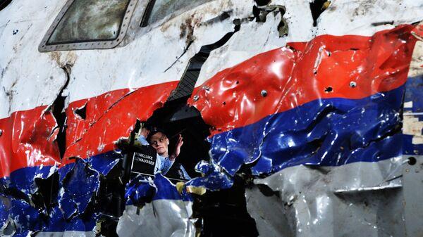 Представление доклада об обстоятельствах крушения лайнера Boeing 777 Malaysia Airlines на Востоке Украины в Нидерландах. 13 октября 2015