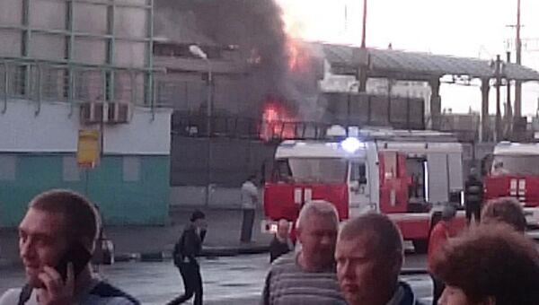 Пожар в административном помещении на станции метро Выхино