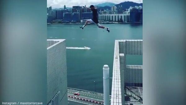 Сумасшедший прыжок британского экстремала