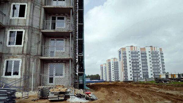 Строительство жилых домов. Архивное фото