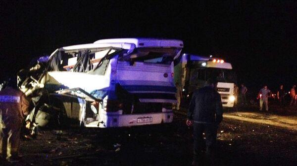 Пассажирский автобус попал в ДТП в Дагестане
