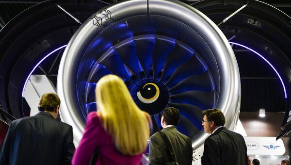 Стенд компании Объединенная двигателестроительная корпорация (ОДК) на МАКС 2015. Архивное фото