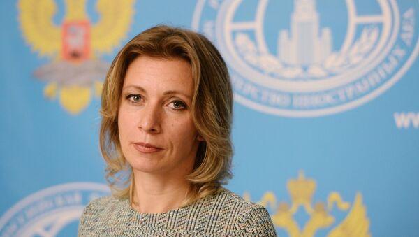 Официальный представитель министерства иностранных дел РФ Мария Захарова во время брифинга. Архивное фото