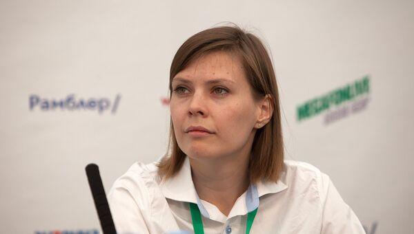 Варвара Хмелькова руководитель по спонсорству и партнерству Мегафон на пресс-конференции фестиваля Megafonelive