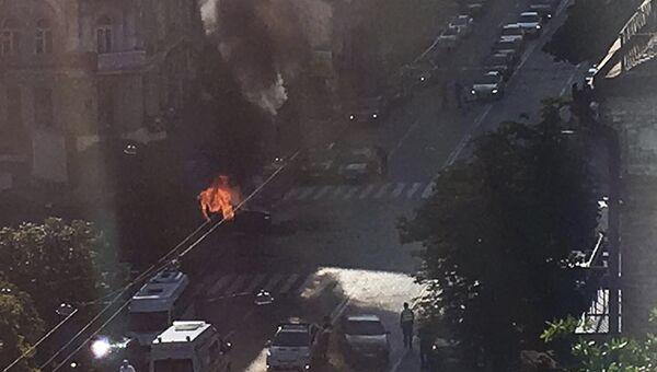 Взрыв автомобиля, в результате которого погиб журналист Павел Шеремет. Киев, Украина. 20 июля 2016