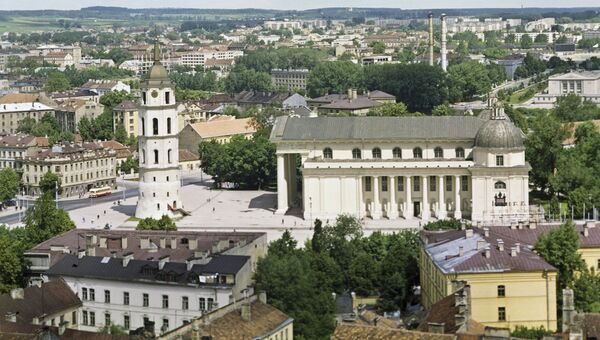 Вид на площадь Гедимина, Вильнюс. Архивное фото