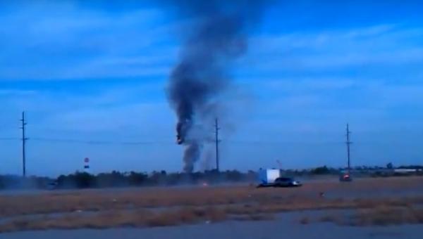 Первые кадры крушения воздушного шара в Техасе, где были 16 человек. ВИДЕО