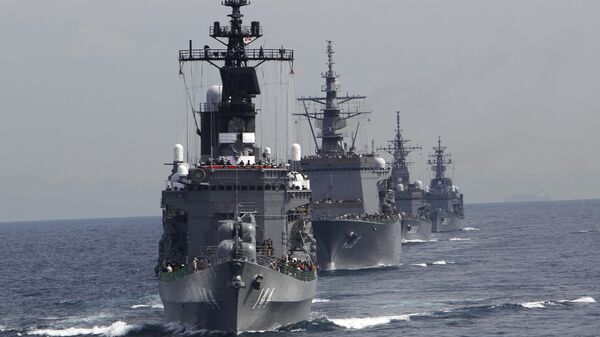 Корабли ВМС Японии в заливе Сагами