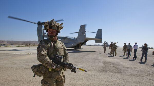 Солдат британского спецназа в Афганистане