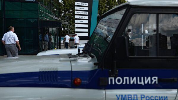 Автомобиль правоохранительных органов у офисно-делового комплекса Химки Бизнес Парк