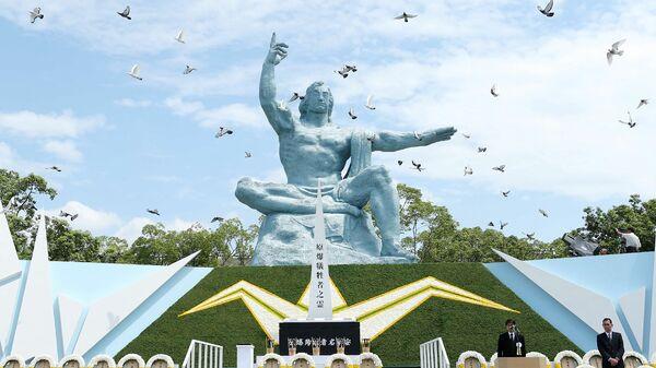 Памятная церемония у Статуи мира в Нагасаки. 9 августа 2016