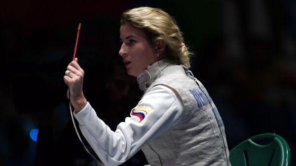 Рапиристка Инна Дериглазова на XXXI летних Олимпийских играх
