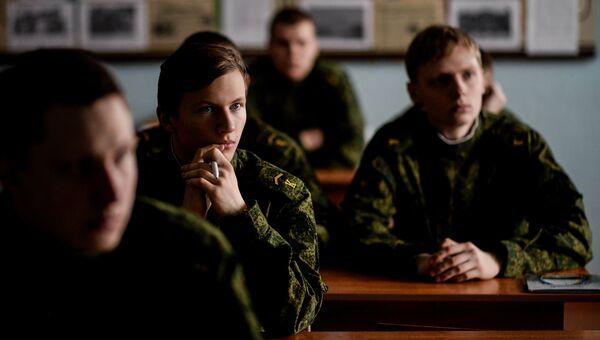 Урок в кадетской школе в Новгородской области. Архивное фото