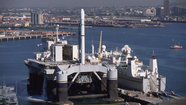 Плавучий космодром Морской старт. Архивное фото