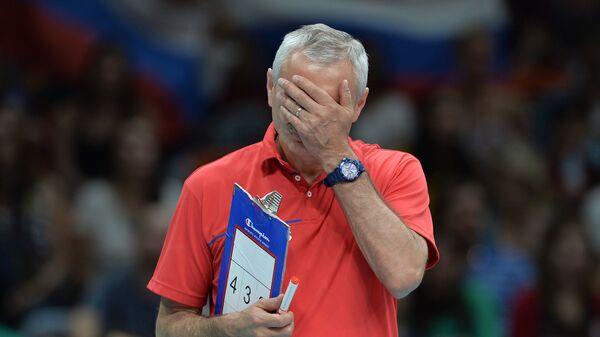 Главный тренер женской сборной России по волейболу Юрий Маричев на XXXI летних Олимпийских играх