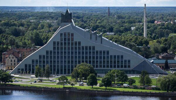Здание Латвийской Национальной библиотеки в Риге, Латвия