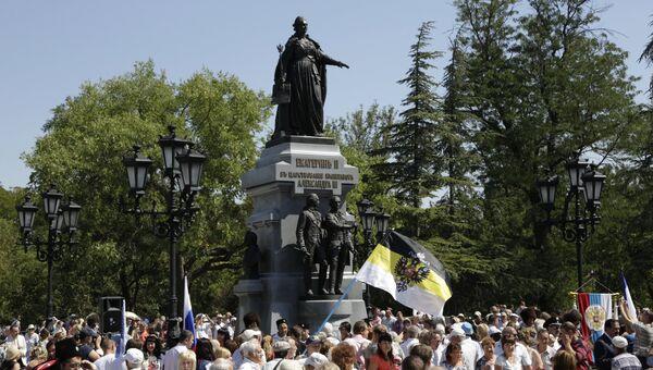 Открытие памятника Екатерине II в Симферополе