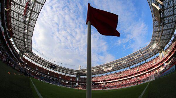Футбольный матч на стадионе Локомотив в Москве