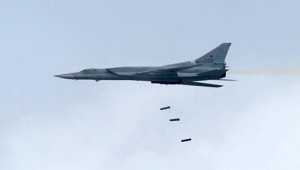 Дальний сверхзвуковой бомбардировщик-ракетоносец Ту-22 М3 во время всероссийского этапа международного конкурса Авиадартс-2016