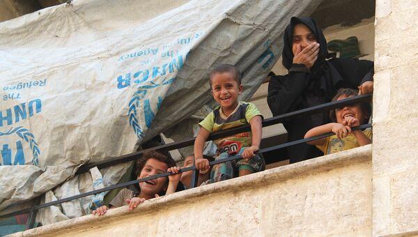 Дети из семей беженцев в Алеппо. Архивное фото